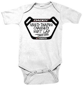 Smooth Pit Board Infant Romper White (Gray, 6-12 months)
