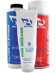 No Toil NT207 Aerosol Filter Maintenance Kit - 3 Pack - 12oz Oil, 16oz Cleaner, 4oz Grease
