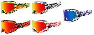 EKS Adult MX ATV Scatter Goggles White/Black With Mirror Lens