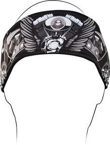 Zan Headgear V-Twin Wings Nylon Headband HB001