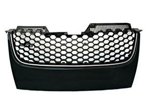 06-09 VW MK5 JETTA/GLI/GTI BADGELESS HEX MESH GRILLE - BLACK W/ CHROME TRIM