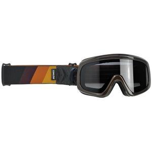 Biltwell Inc. Overland 2.0 Tri Stripe Goggles Gold/Rust/Brown (Brown, OSFM)