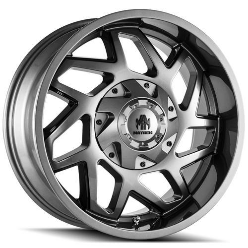 "4-Mayhem 8106 Hatchet 20x9 8x6.5""/8x170 +0mm Gunmetal/Black Wheels Rims 20"" Inch"