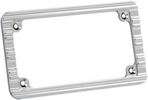 Arlen Ness Chrome 10-Gauge Ness License Plate Frame 12-135