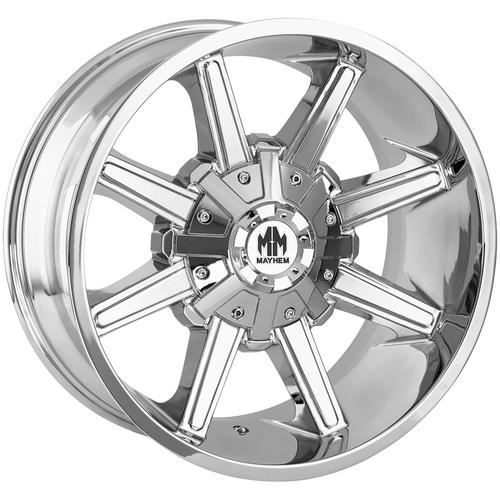 "4-Mayhem 8104 Arsenal 18x9 8x6.5""/8x170 +18mm Chrome Wheels Rims 18"" Inch"