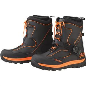 Arctiva Comp Boots Black/Orange (Black, 12)