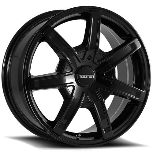 "Touren TR65 20x8.5 5x112/5x120 +35mm Black Wheel Rim 20"" Inch"