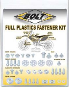 Bolt MC Hardware 024-33614 Yamaha Style Plastic Fastener Pack - M6x1.0x14mm fork guard bolts