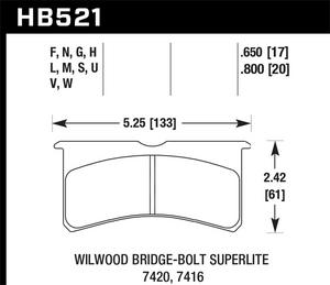 Hawk Performance HB521V.800 Disc Brake Pad