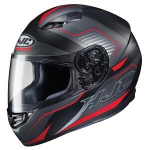 HJC CS-R3 Trion Helmet Semi-Flat Red (MC-1SF) (Black, X-Small)