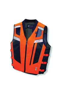 Olympia Adult Blaze Mil Spec Motorcycle Vest Neon Orange XS/S