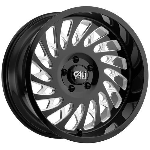 "4-Cali Off-Road 9108 Switchback 20x9 5x5.5"" +0Black/Milled Wheels Rims 20"" Inch"