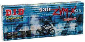 D.I.D 530ZVMXS-130L 530ZVM-X Super Street Series X-Ring Chain - 130 Links - Nickel