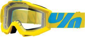 100% Accuri Goggle Fiji Frame Clear Lens Yellow/Blue Strap