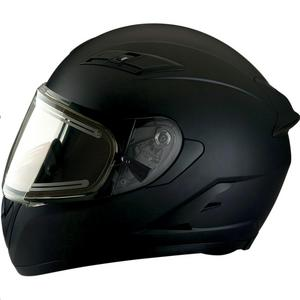 Z1R Strike Ops Solid Snow Helmet with Electric Shield Flat Black (Black, Small)