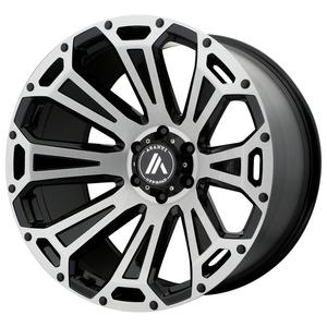 "4-Asanti AB813 Cleaver 20x10 6x135 -12mm Black/Brushed Wheels Rims 20"" Inch"