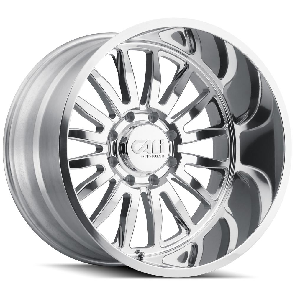 "Cali Off-Road 9110 Summit 20x10 6x135 -25mm Polished Wheel Rim 20"" Inch"