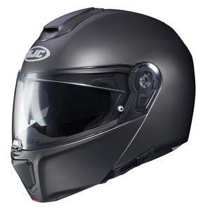 HJC RPHA 90 Solid Helmet Semi Flat Titanium (Gray, Large)