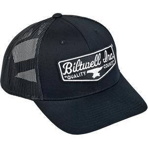 Biltwell Inc. Shield Patch Hat (Black, OSFM)