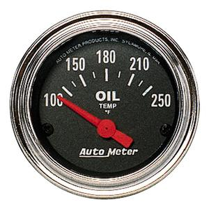 AutoMeter 2542 Traditional Chrome Electric Oil Temperature Gauge