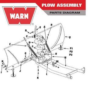 Warn 29060 1/2in. Nylock Nut for Warn Plow