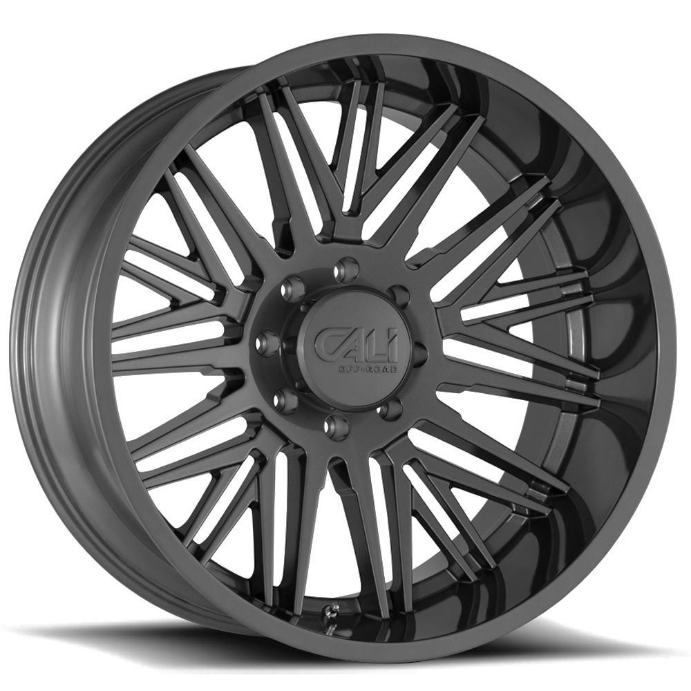 "4-Cali Off-Road 9109 Rawkon 20x12 8x170 -51mm Gunmetal Wheels Rims 20"" Inch"