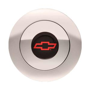GT Performance Products GT9 Horn Button Bowtie Logo Polished P/N 11-1162