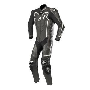 Alpinestars GP Plus Camo One-Piece Leather Suit Black Camo/White (Black, 48)
