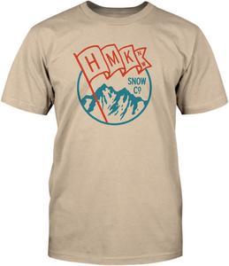 HMK Snowmobile Adult Flag T-Shirt Tan Tee Shirt Small