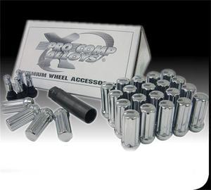 Pro Comp Lug Nut Kit 14 x 1.5 Spline 8 Lugs w/Valve Stem Open End