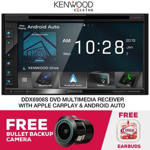 "Kenwood Excelon DDX6906S 6.8"" CarPlay DVD Receiver & Free Bullet Cam"