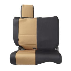 Smittybilt 47124 Neoprene Seat Cover For 97-02 Wrangler (TJ) Black/Tan Rear