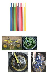"Bykas Motorcycle MX Dirt Bike Spoke Wraps White 72 Wraps 21"" 19"""