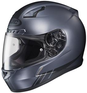 HJC CL-17 Streamline Helmet Flat Black (MC-5F) (Gray, X-Small)