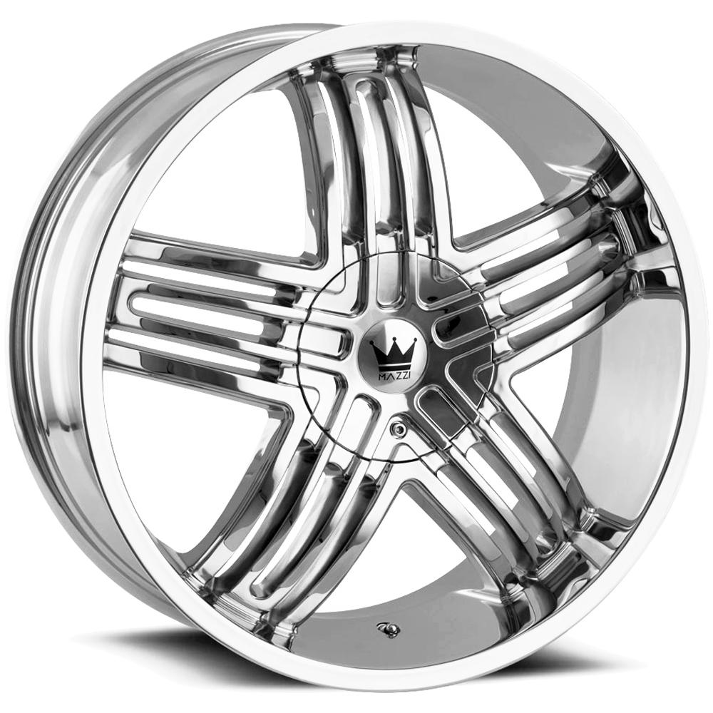 "Mazzi 368 Entice 20x8.5 5x110/5x115 +35mm Chrome Wheel Rim 20"" Inch"
