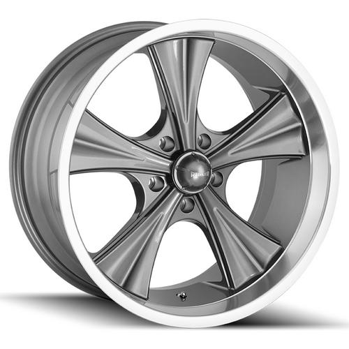 "Ridler 651 18x8 5x5"" +0mm Gunmetal Wheel Rim 18"" Inch"
