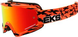 EKS Adult MX ATV Scatter Goggles Orange/Black With Mirror Lens