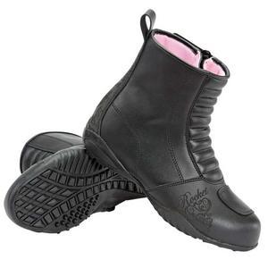 Joe Rocket Trixie Waterproof Motorcycle Boots Black Womens Size 9