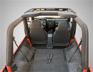 BedRug BRLJ04R BedRug Cargo Kit Fits 04-06 Wrangler