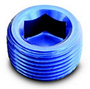 A-1 Products 1/2 in NPT Blue Aluminum Allen Head Plug P/N 93205