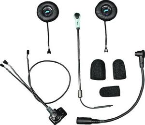J&M HS-EHI801-LDC-XHO Elite Series Helmet Headset - Custom Open Face/Flip Style