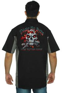 Men's Mechanic Work Shirt Dump My Ride BLACK/GREY (5XL)
