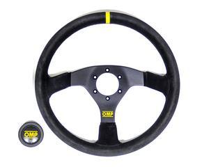 OMP Racing Velocita 350 Black Aluminum 350 mm Diameter Steering Wheel P/N OD1958