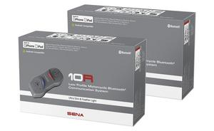 Sena 10R Low Profile Motorcycle Bluetooth Communication System Dual Pack 10R-01D