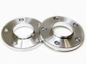 2x 20mm Silver Wheel Spacers w/ Hubcentric Lip 5x112 66.6 CB