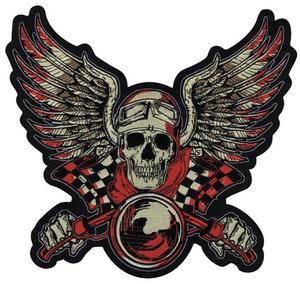 Lethal Threat LT30135 Vintage Biker Red Embroidered Patch