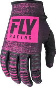 Fly Racing Kinetic Noiz Youth Gloves Neon Pink/Black (Pink, 6)