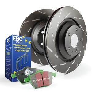 EBC Brakes S2KR1897 S2 Kits Greentuff 2000 and USR Rotors