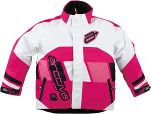 Arctiva Comp Insulated Youth Jacket Pink/White (Pink, 14)