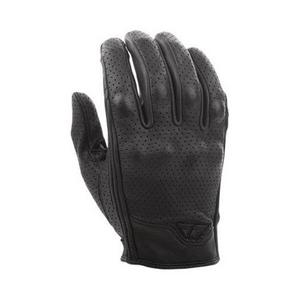 Fly Racing Thrust Leather Gloves (Black, Large)